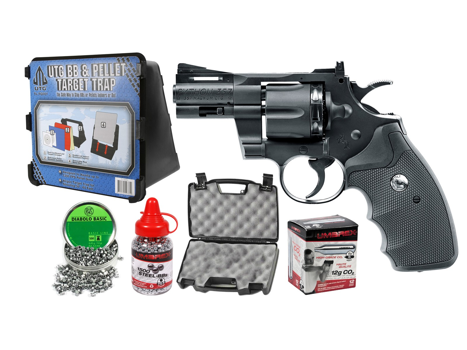 "Colt Python 2.5"" .357 CO2 Pellet/BB Revolver Kit"