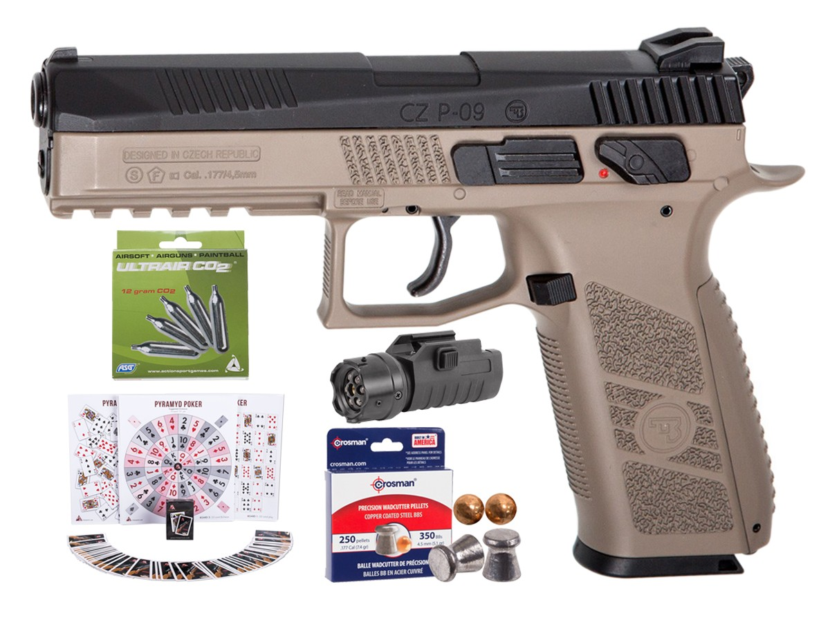 CZ P-09 Duty CO2 Pistol, DT-FDE Kit 0.177