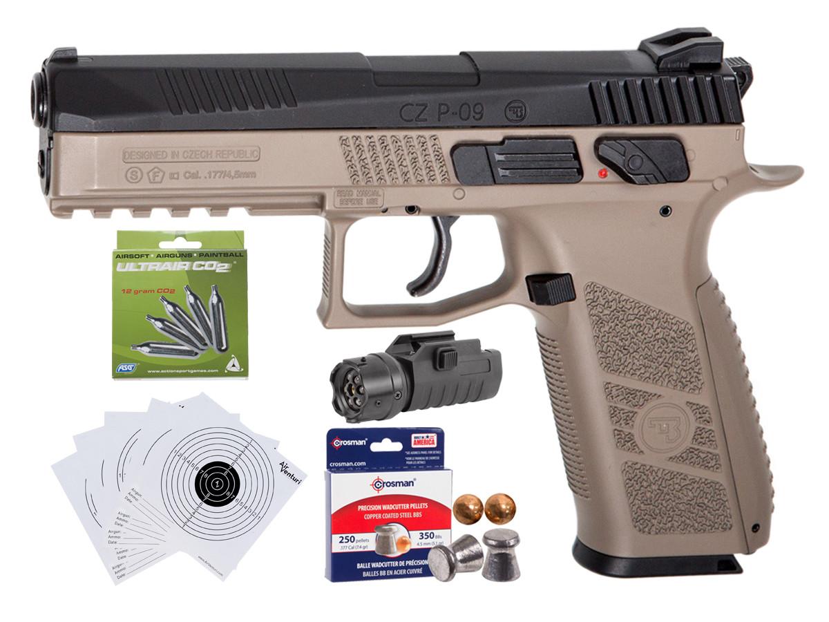 CZ P-09 Duty CO2 Pistol, DT-FDE Kit