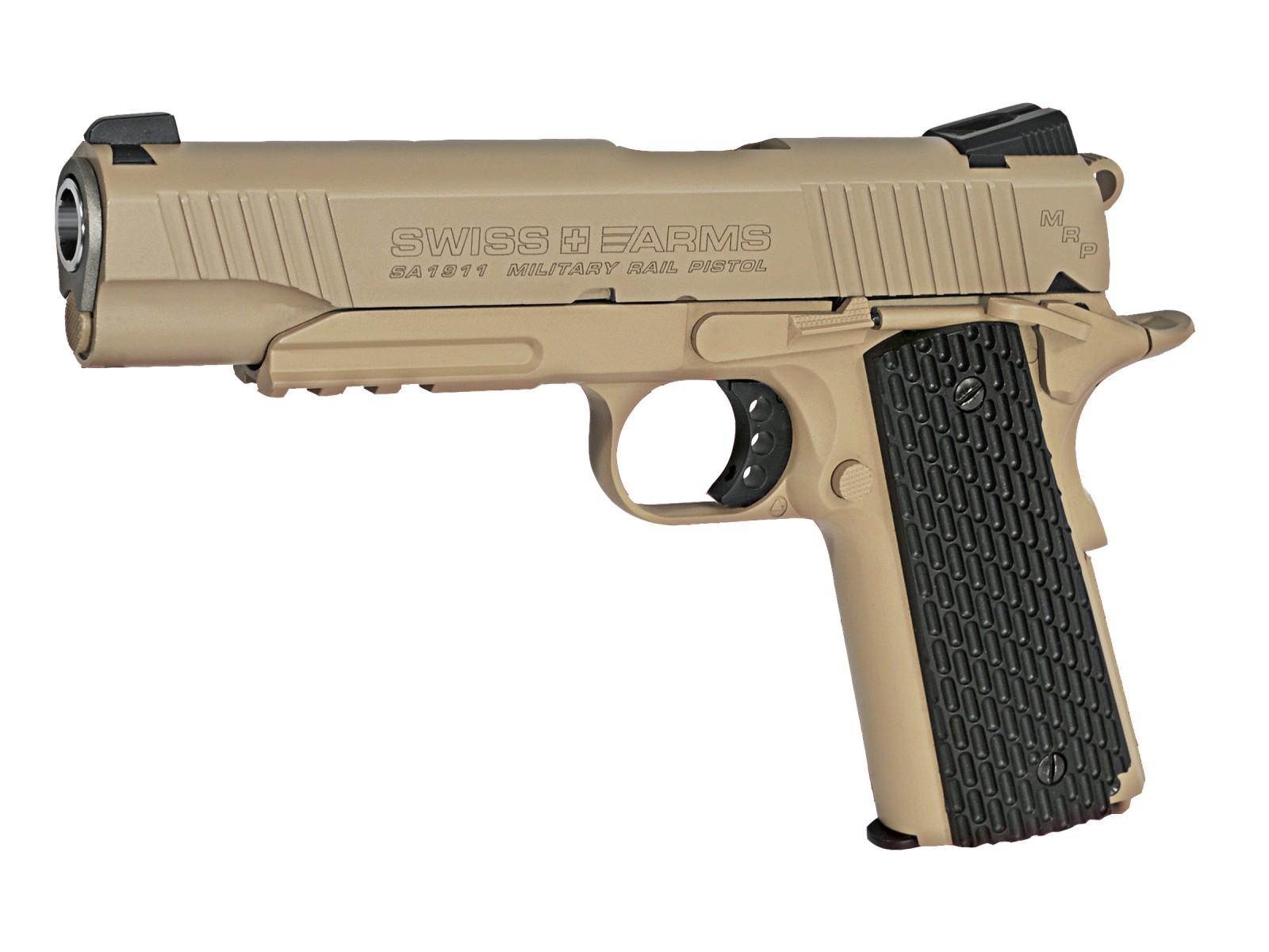 Swiss Arms SA 1911 MRP CO2 BB Pistol, Black Grips