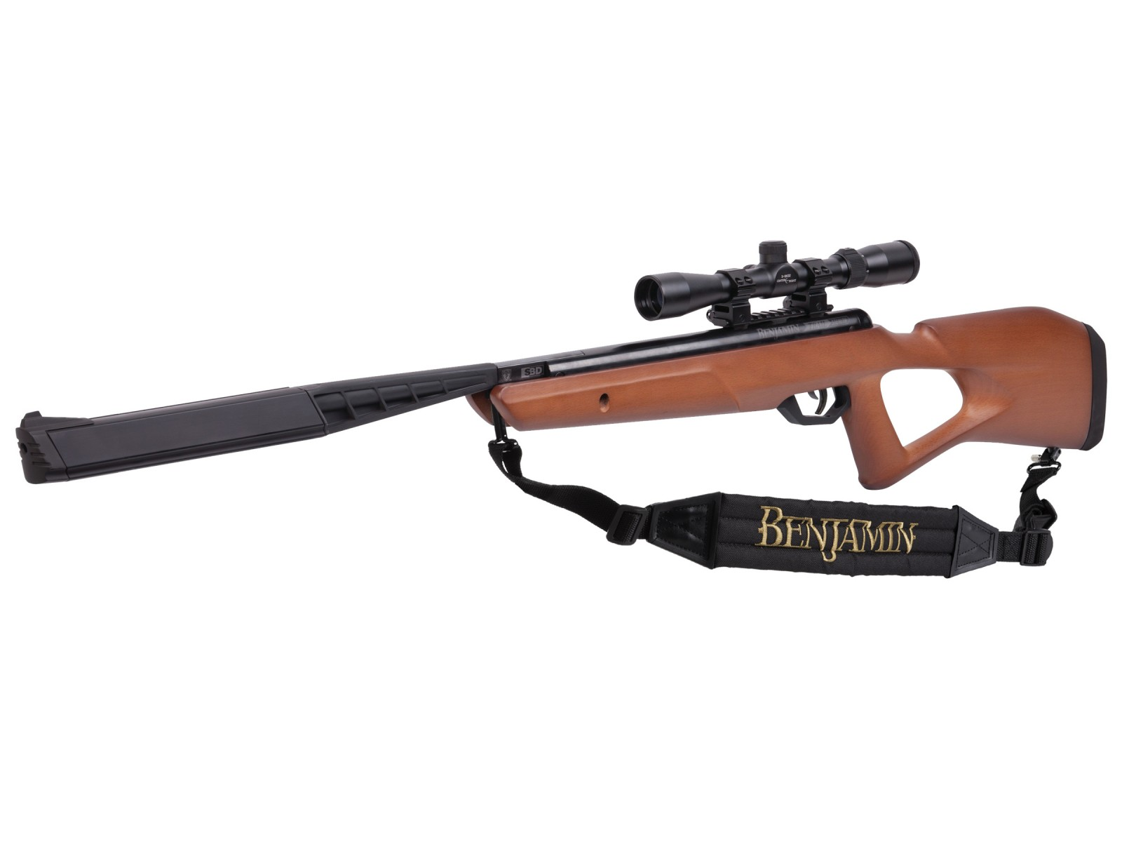 Cheap Benjamin Trail SBD NP2 Air Rifle Combo, Wood Stock 0.22