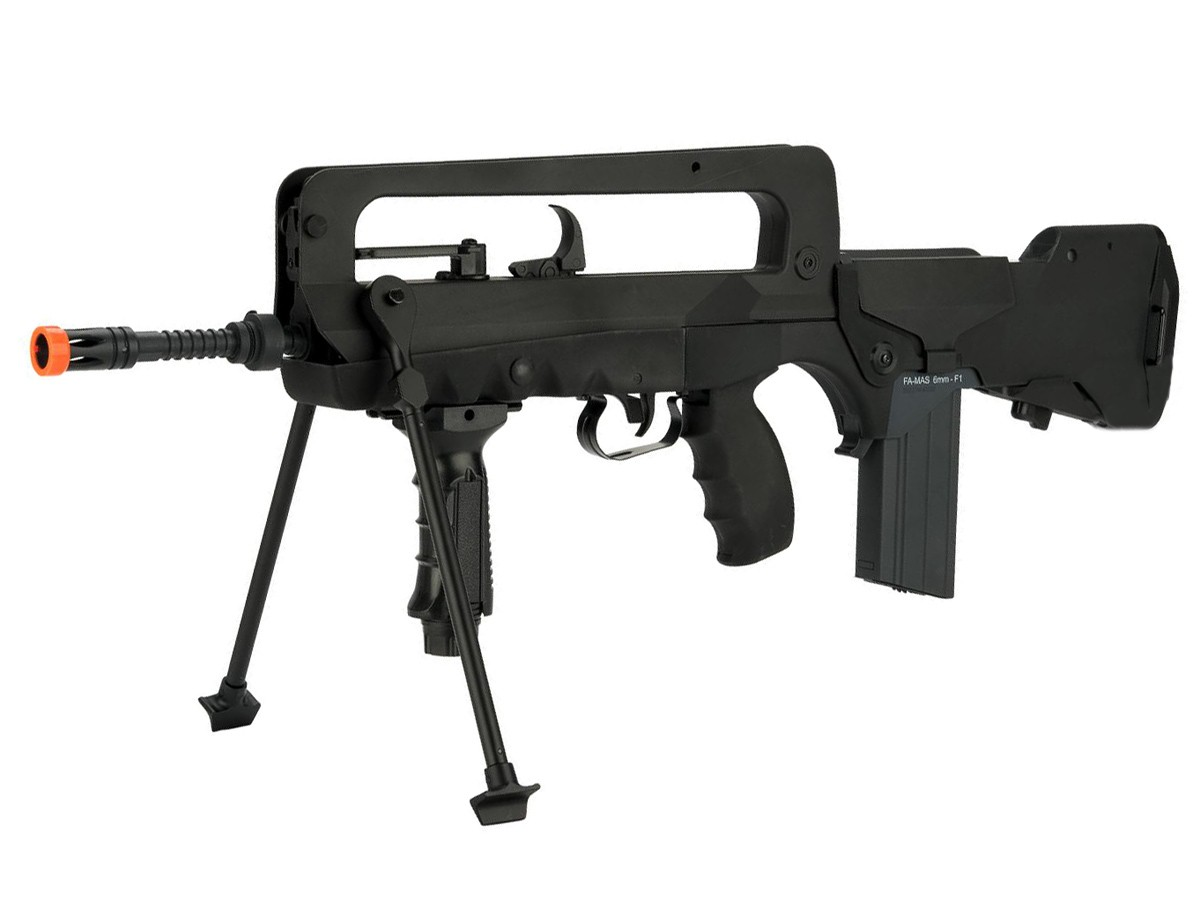 FAMAS F1 EVO Machine Gun AEG, Black