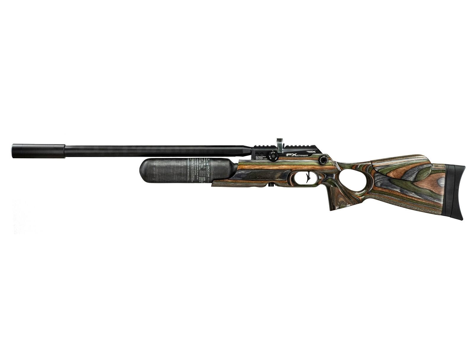 FX Crown MkII PCP Air Rifle, Green Hunter Lam.