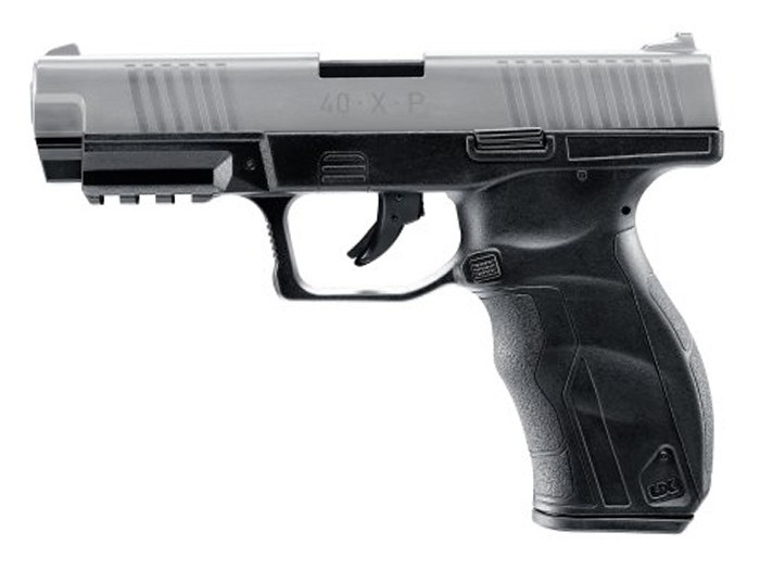 Umarex 40XP CO2 BB Pistol, Metal Slide, Black W/Silver Slide 0.177 Image