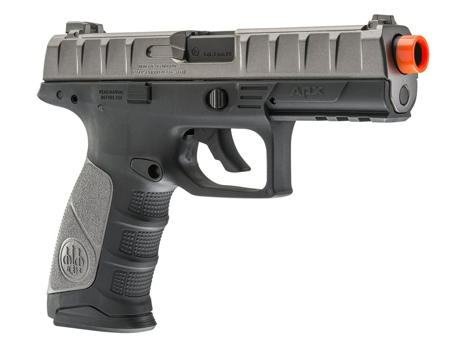 Beretta APX CO2 Metal Slide Airsoft Pistol, Black/Silver 6mm
