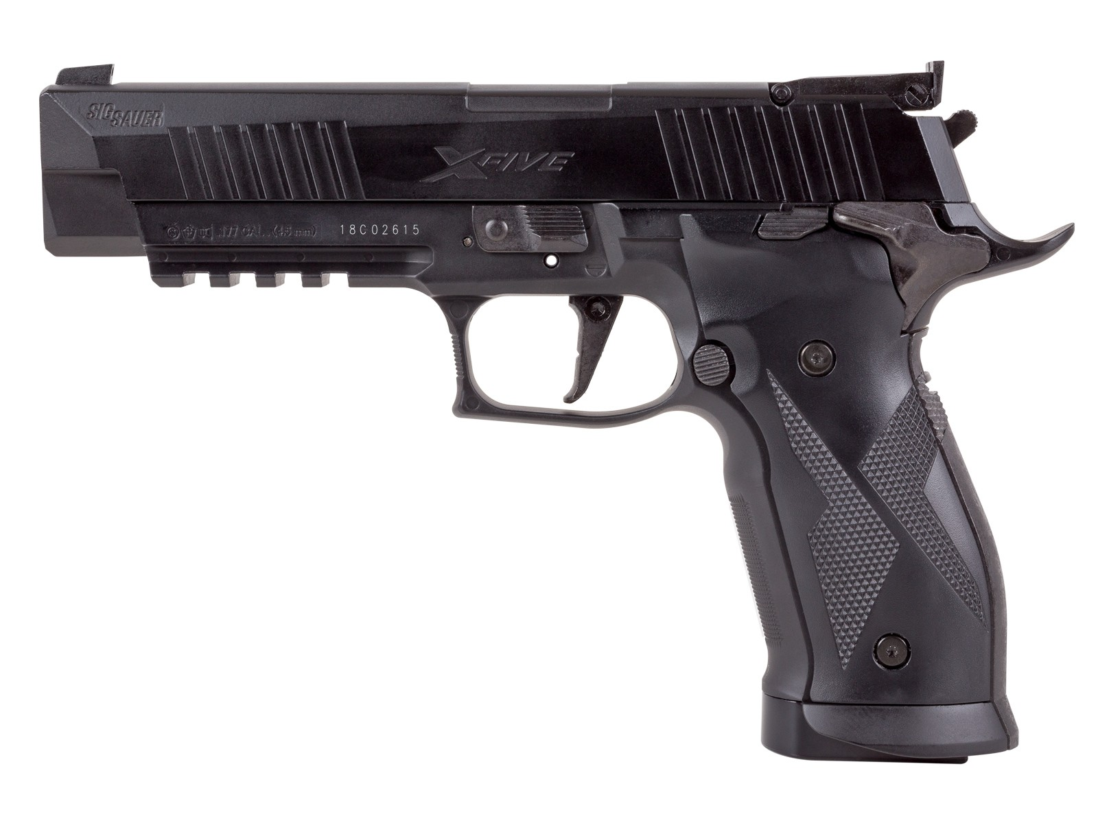 Sig Sauer X-Five ASP CO2 Pellet Pistol, Black 0.177
