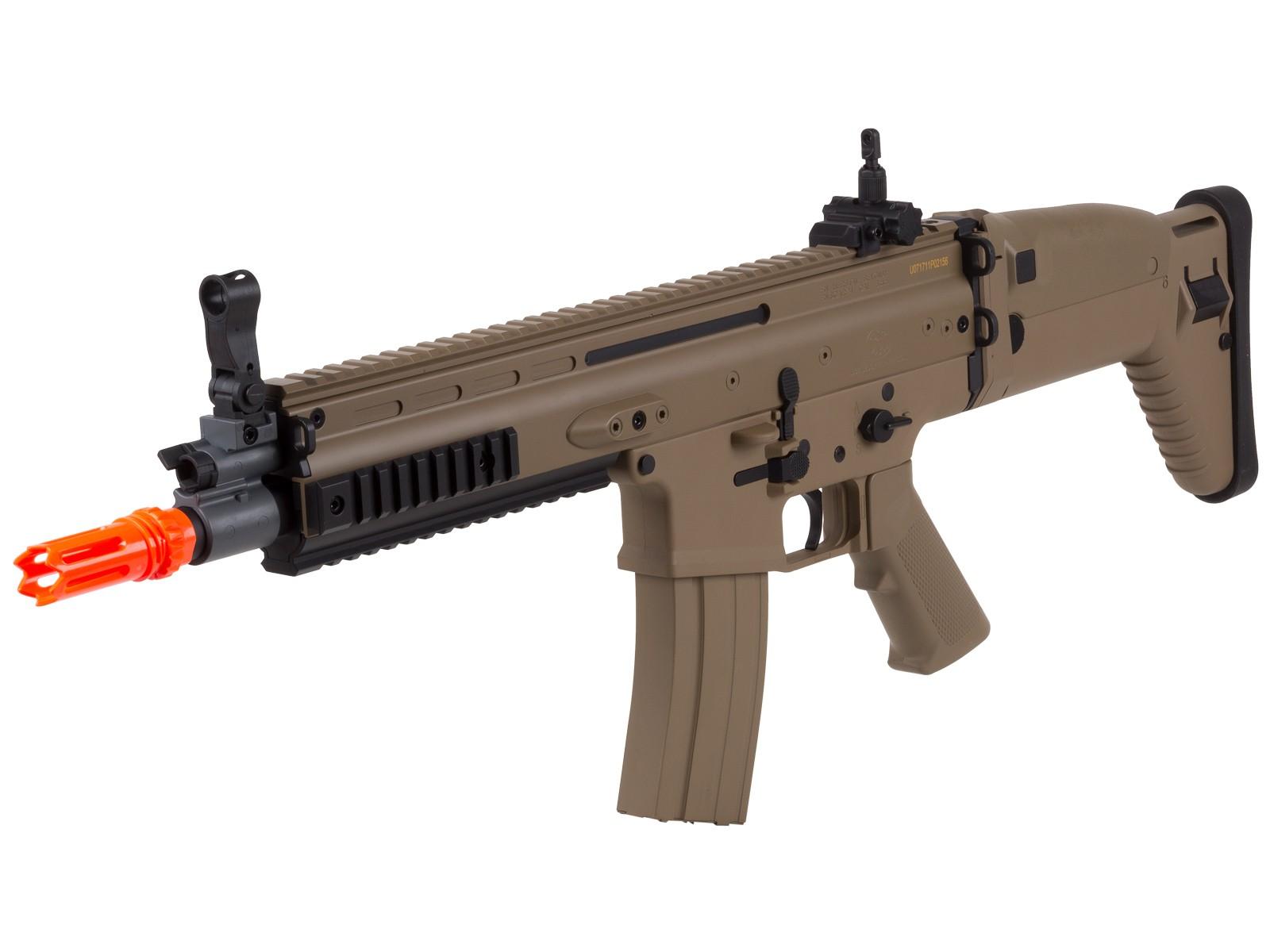 FN_SCARL_AEG_Airsoft_Rifle_Tan_6mm