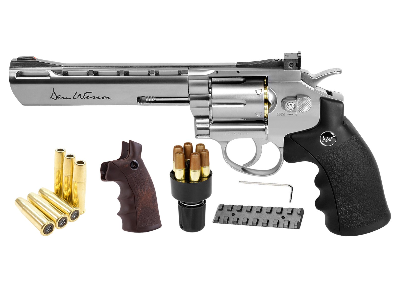 Cheap Dan Wesson CO2 BB Dual Ammo, Dual Grip Revolver Kit, 6″ 0.177