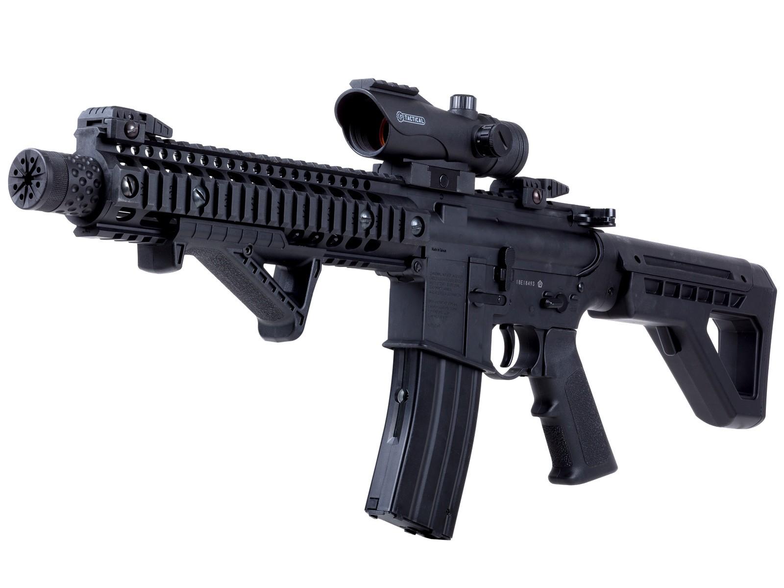 Crosman DPMS SBR Full-Auto BB Air Rifle Kit, w Red Dot Sight 0.177