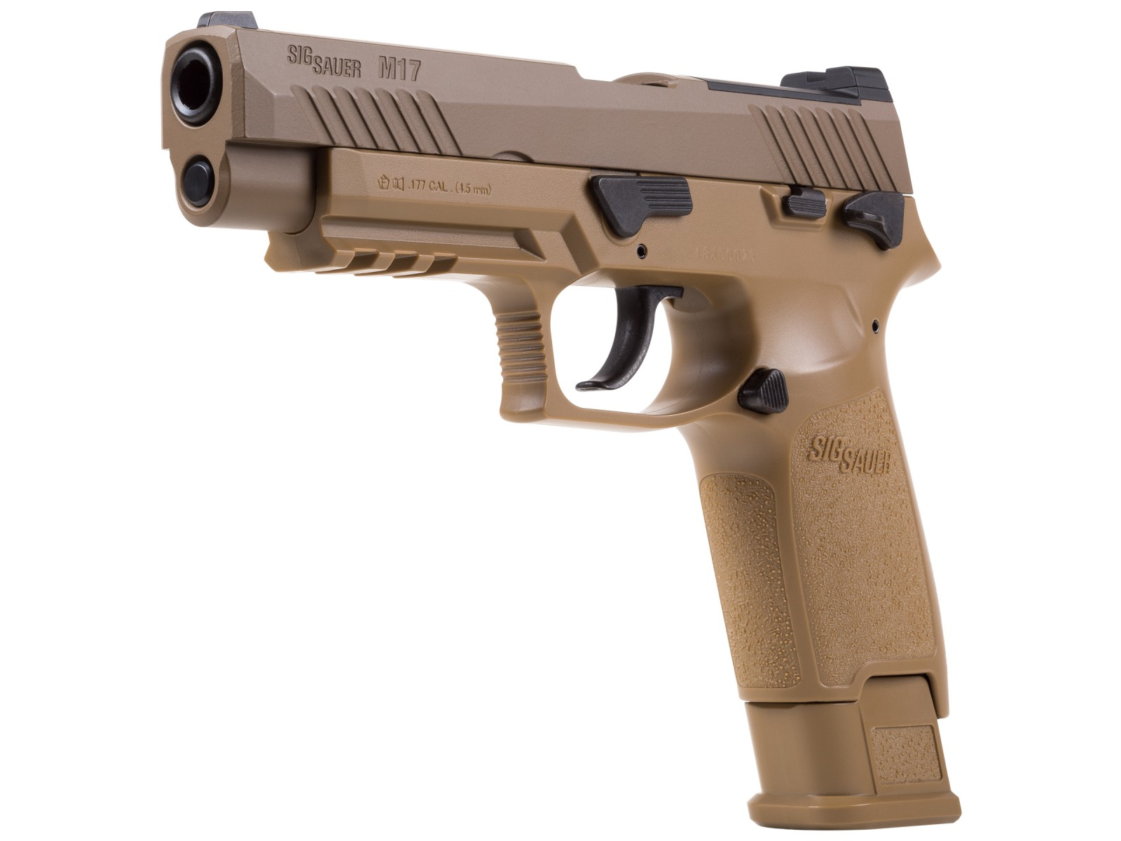 Cheap SIG Sauer M17 P320 ASP, CO2 Pellet Pistol, Tan 0.177