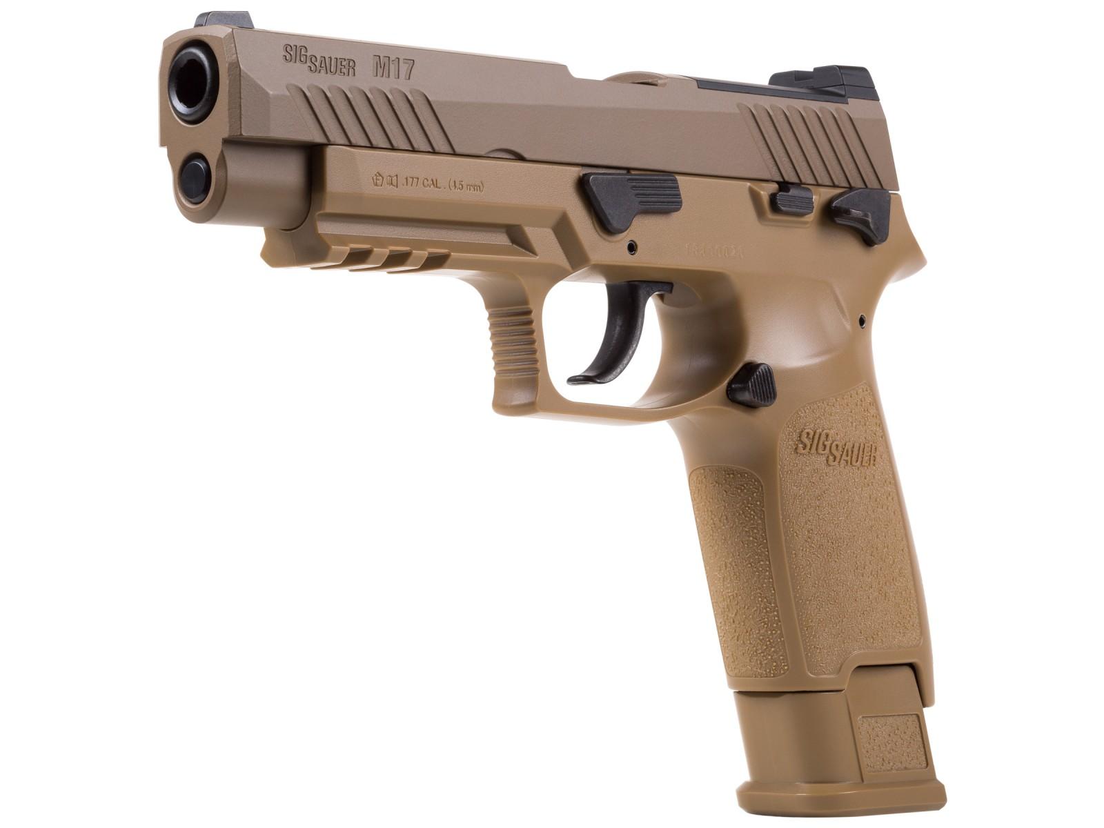 SIG Sauer M17 P320 ASP, CO2 Pellet Pistol, Tan