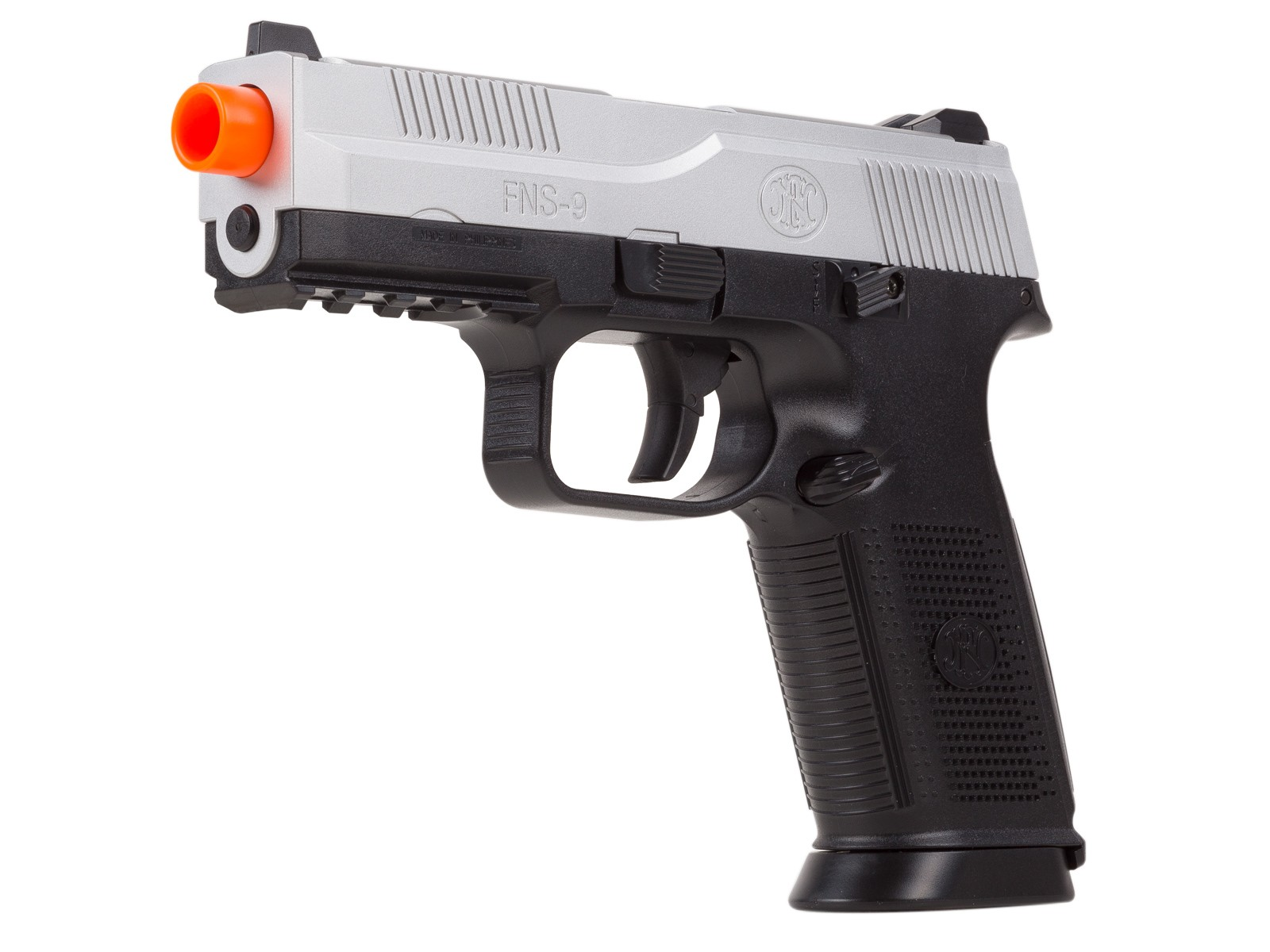 FN_Herstal_FNS9_Spring_Airsoft_Pistol_2Tone_SilverBlack_6mm