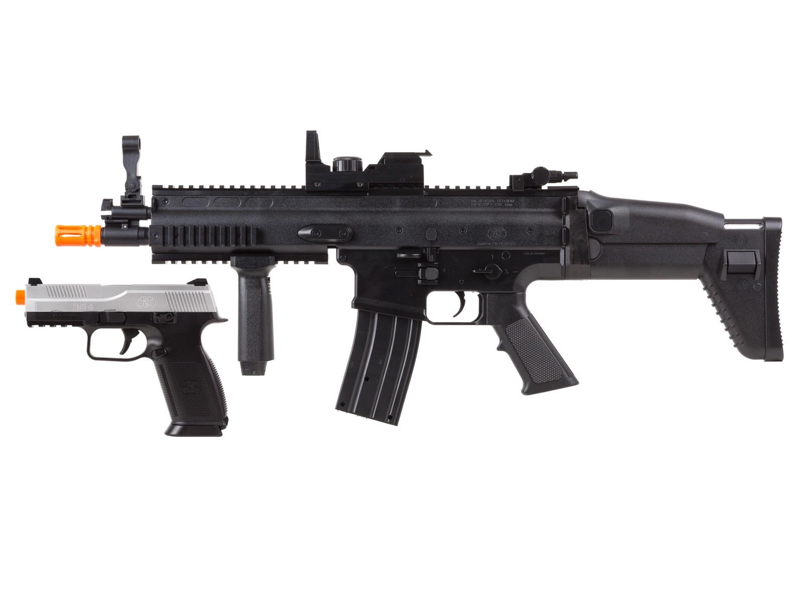 FN_Herstal_ScarL_AEG_&_FNS9_Spring_Pistol_Kit_6mm