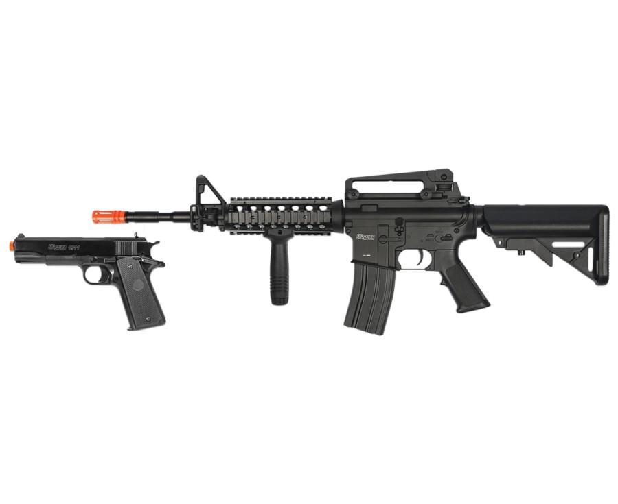 Cheap SIG Sauer Patrol AEG Rifle and Pistol Kit 6mm