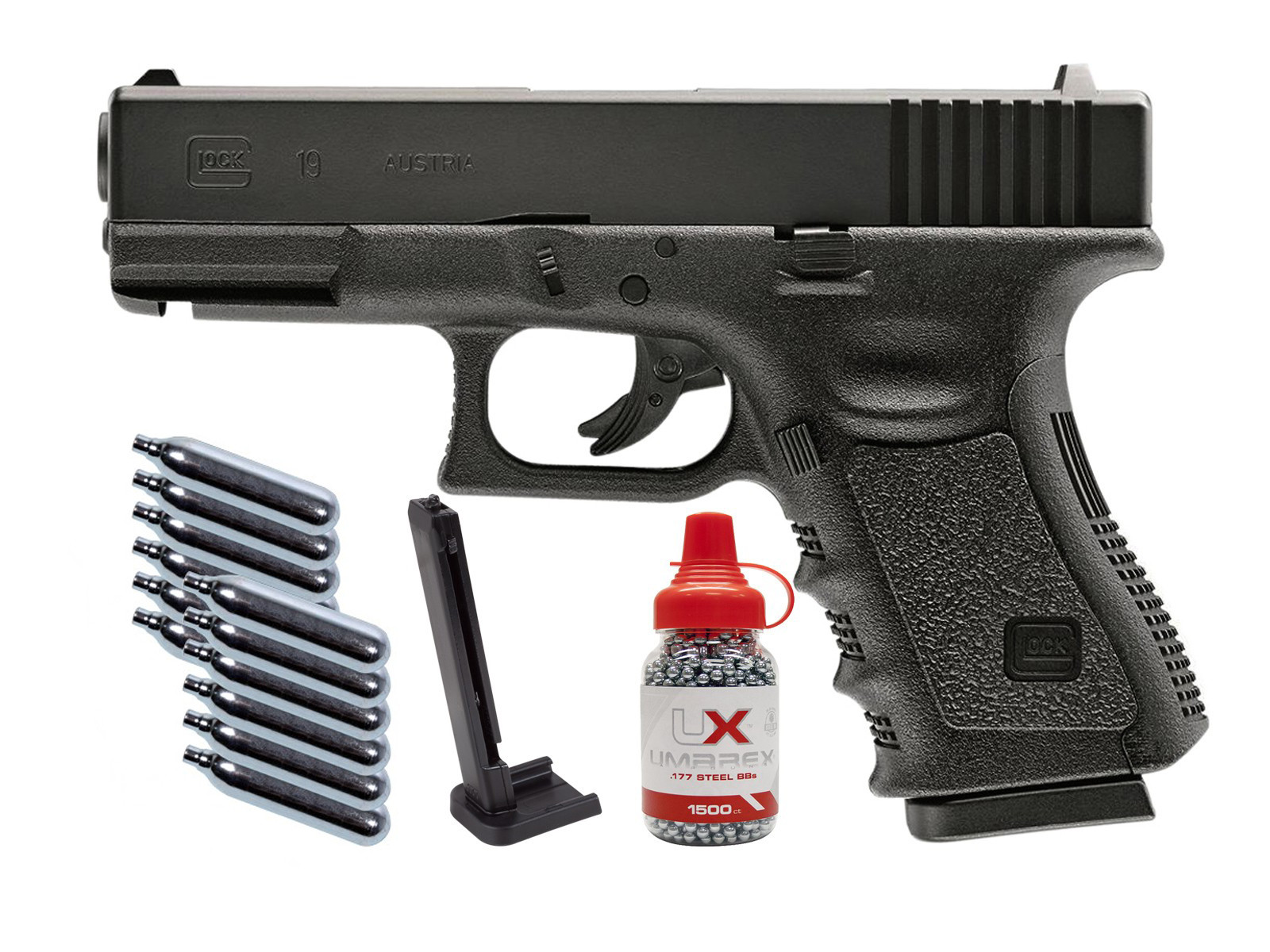 Umarex Glock 19 Gen. 3 CO2 BB Air Pistol Kit 0.177