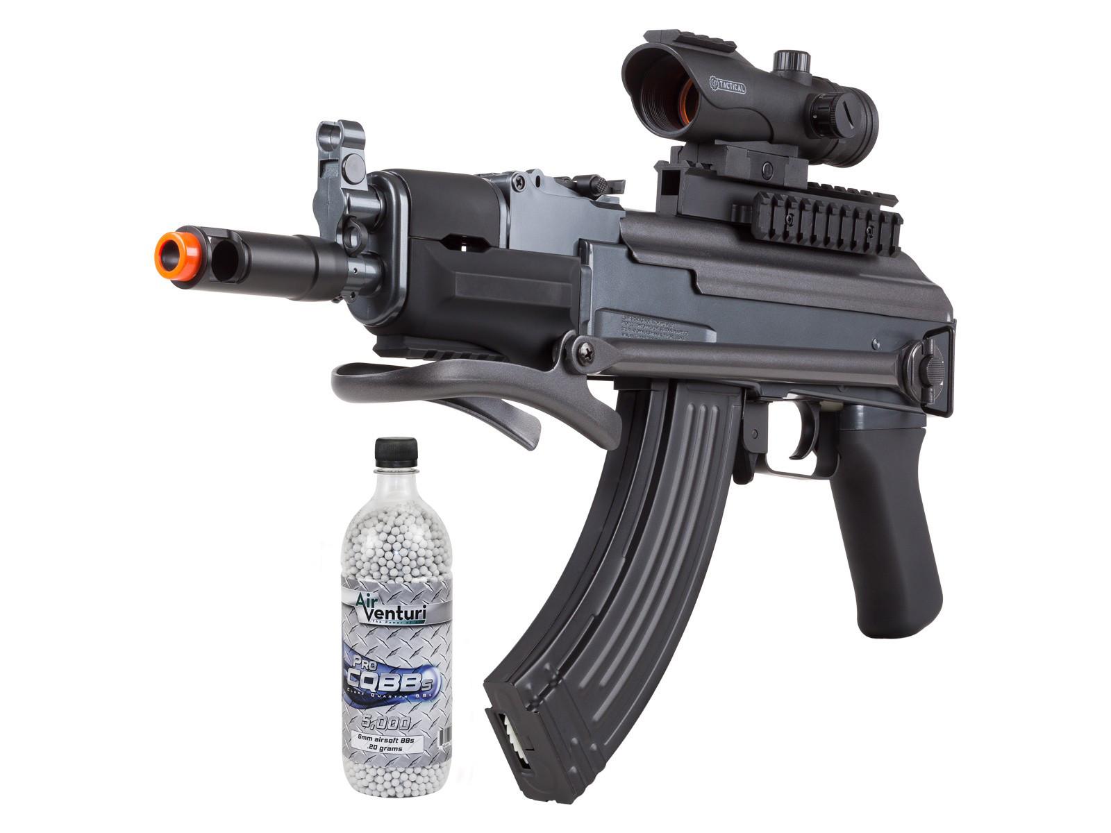 Game Face GF76 AEG Airsoft Rifle Kit, Black 6mm
