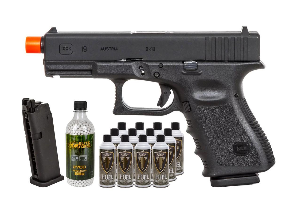 Umarex Elite Force Glock 19 Gen3 GBB Airsoft Pistol Kit 6mm
