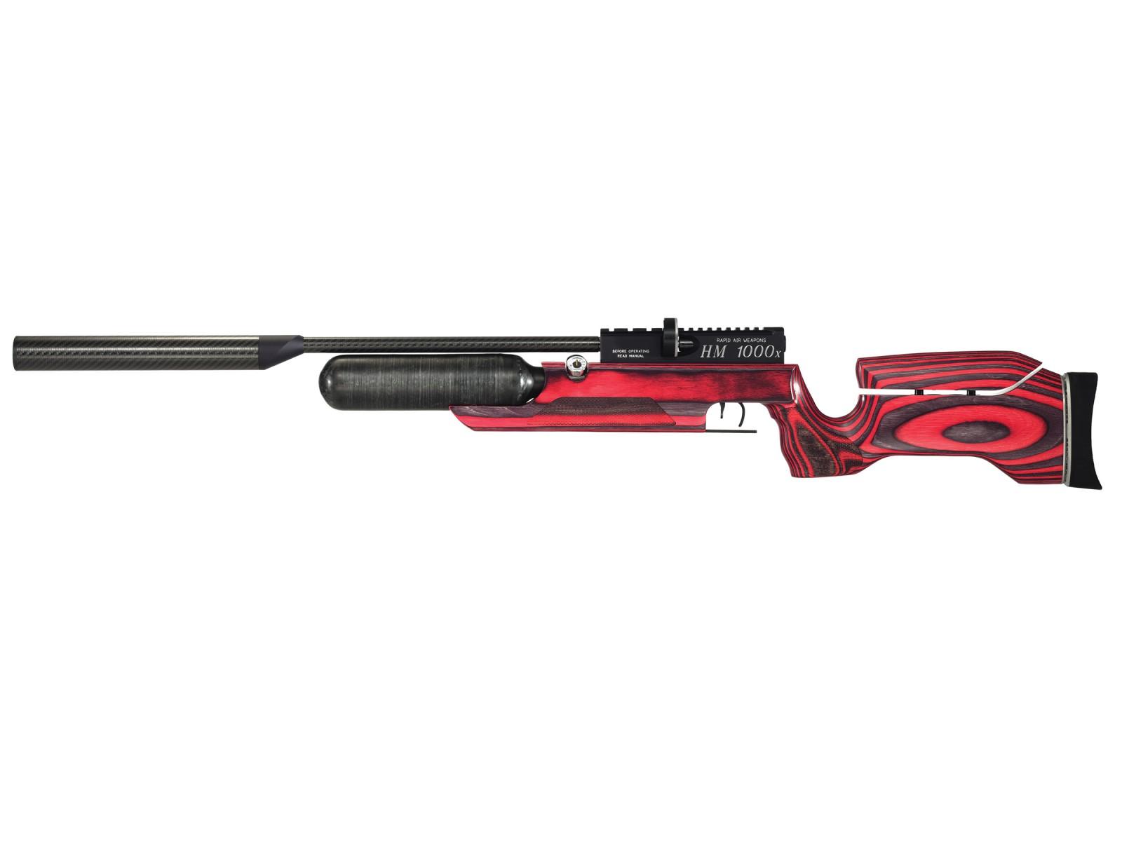 RAW HM1000x LRT PCP Air Rifle, Red Laminate Stock 0.22
