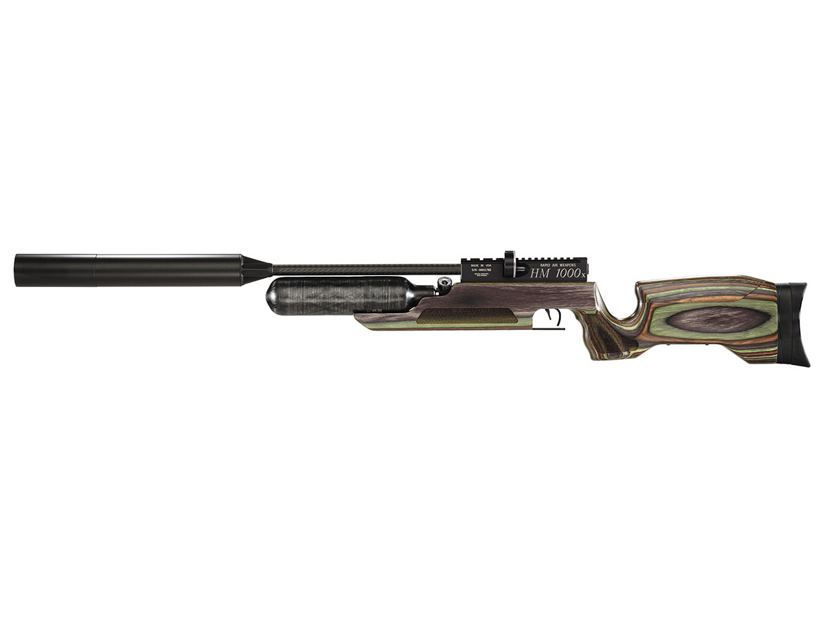 RAW HM1000x LRT Air Rifle, Camo Laminate 0.22