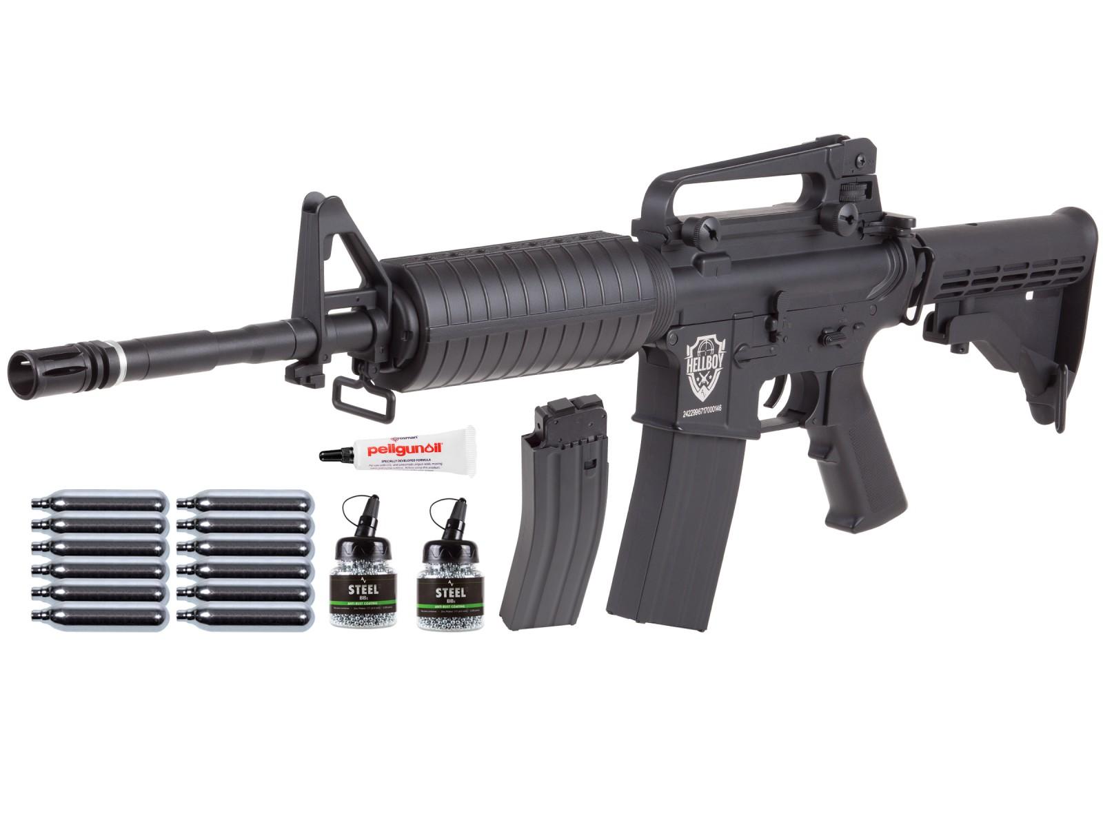 Cheap HellBoy .177 CO2 BB Tactical Air Rifle Kit, Firearm Replica 0.177