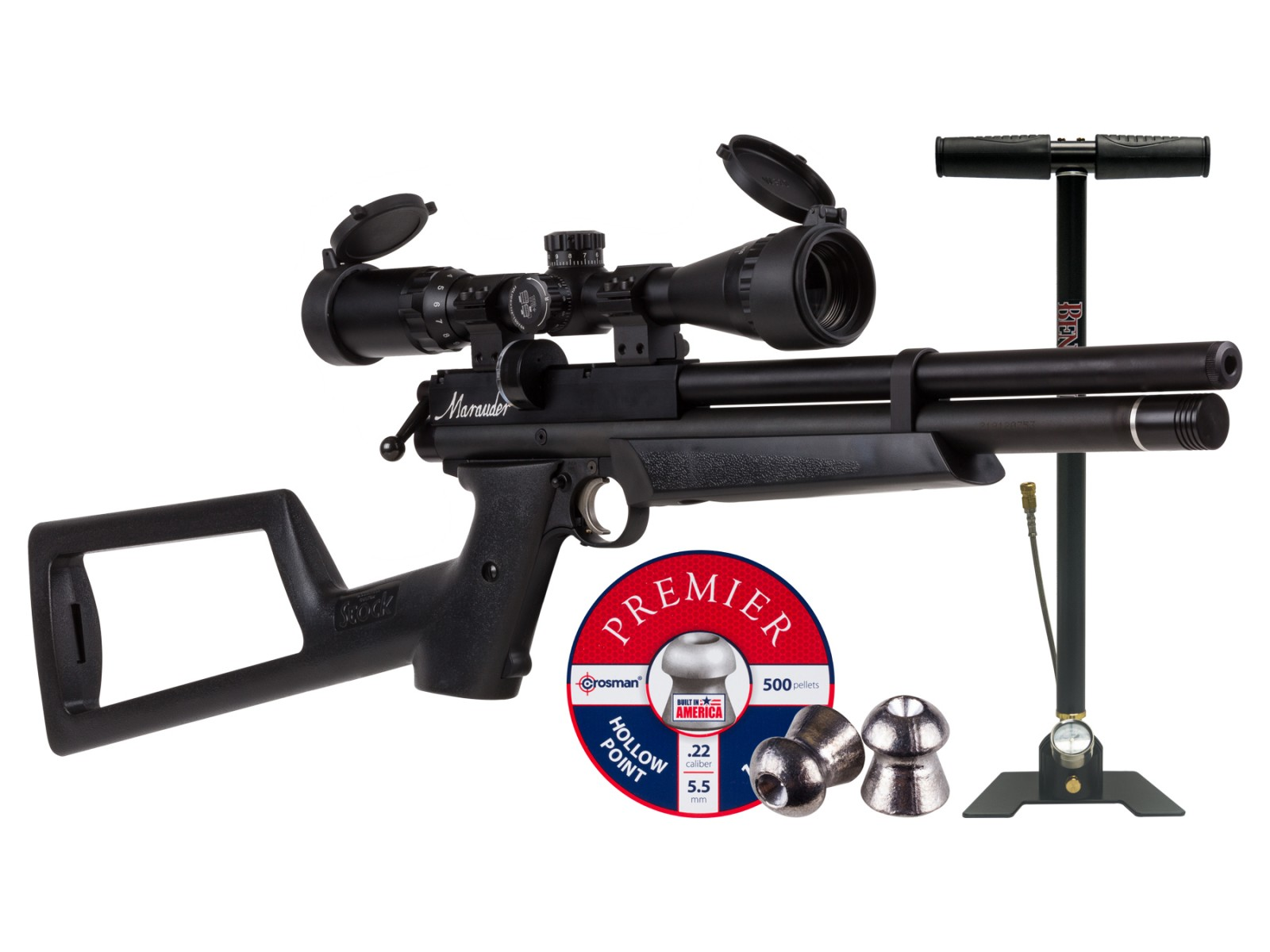 Cheap Benjamin Marauder PCP Air Pistol Kit 0.22