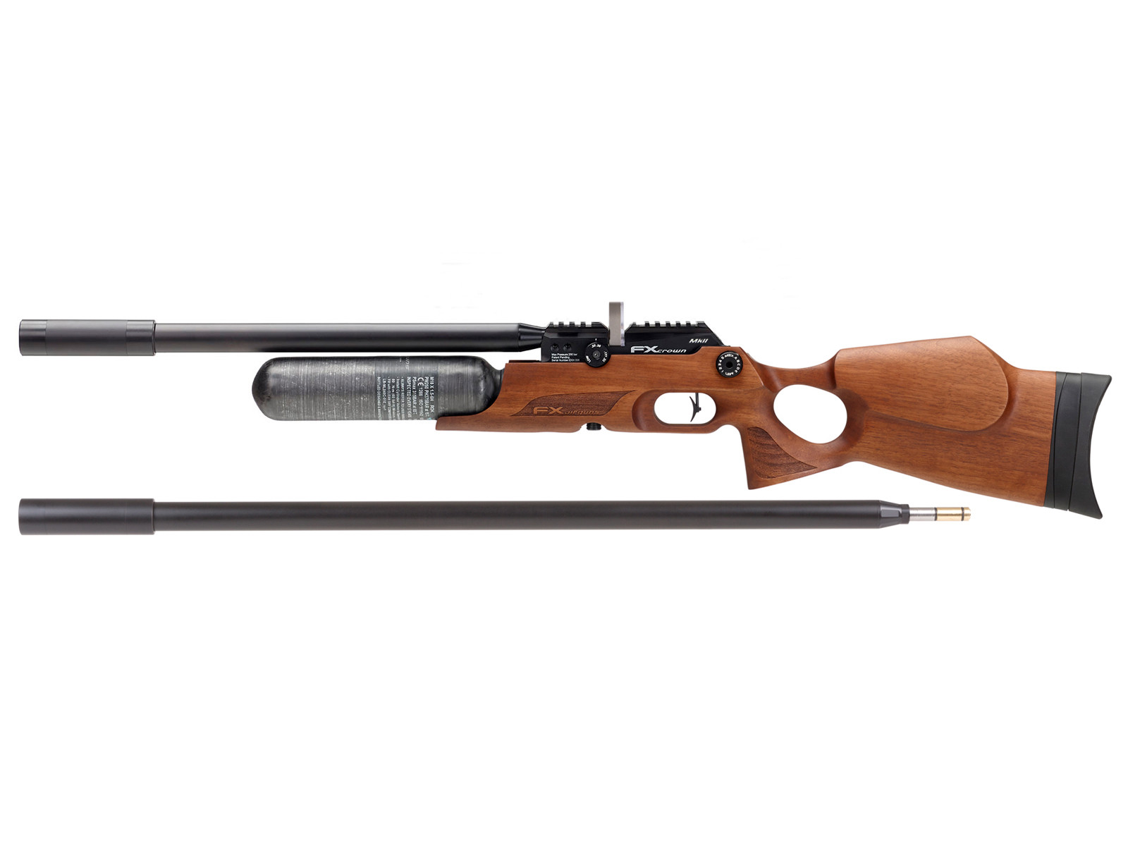 FX Crown Continuum MkII PCP Rifle, Walnut Stock