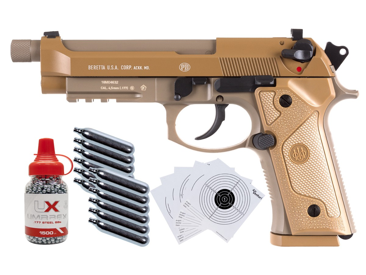 Beretta M9A3 Full Auto .177 CO2 Air Pistol Kit