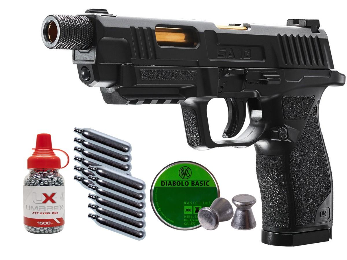 Umarex SA10 CO2 Pistol Kit 0.177