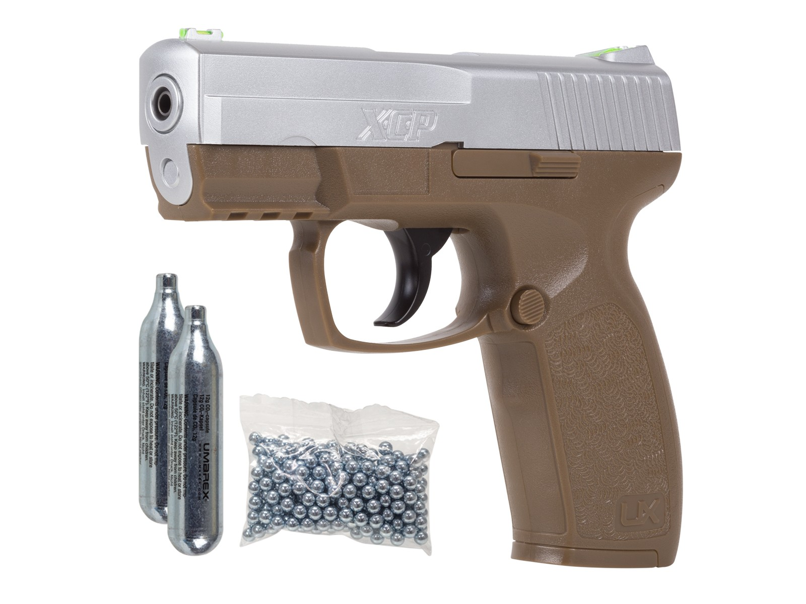 Umarex XCP Air Pistol Kit, Two-Tone 0.177