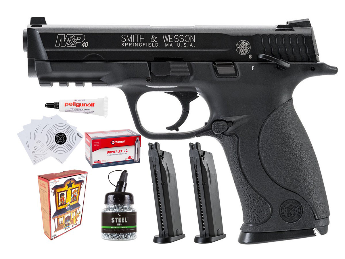 Smith & Wesson M&P 40 BB Pistol Police Training Bundle 0.177