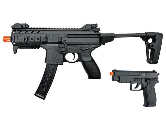 SIG Sauer Spring Airsoft Kit, MPX Rifle & P226 Pistol