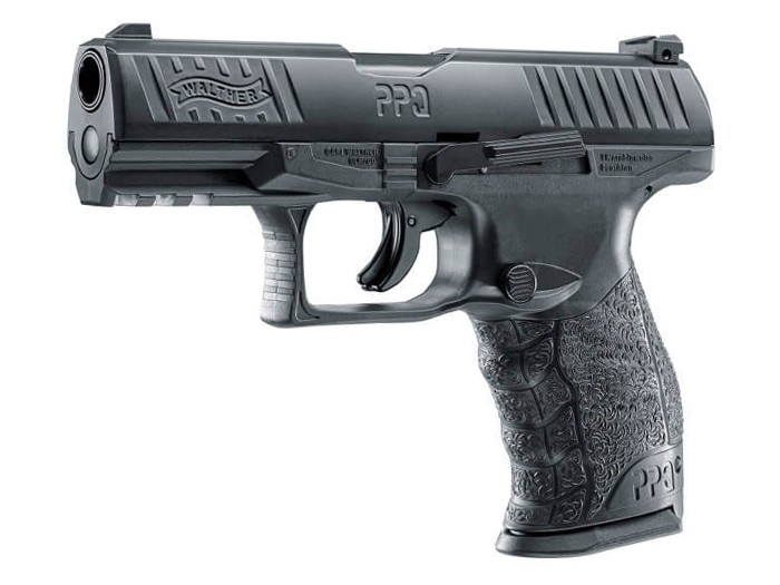 T4E Walther PPQ M2 CO2 Paintball Pistol Black, .43 cal 0.43