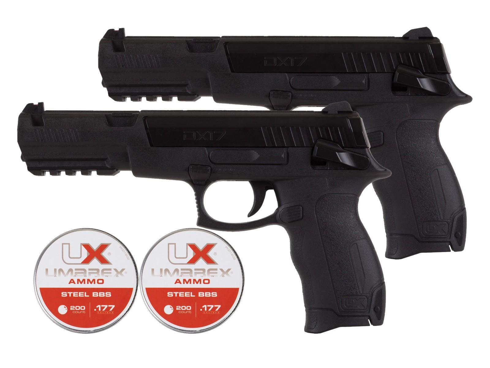 Umarex DX17 BB Pistol 2 Pk with 400 BB's 0.177
