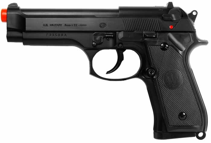 TSD UHC 92 Spring Airsoft  Pistol, Black 6mm Image