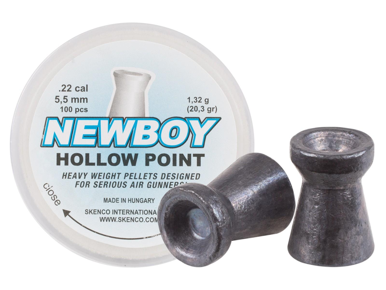 Skenco NewBoy, .22 Cal, 20.37 Grains, Hollowpoint, 100ct