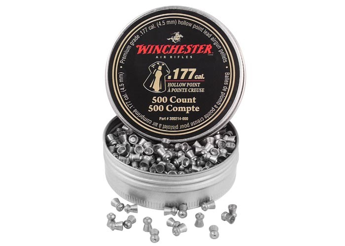 Winchester .177 Cal Pellets, Hollowpoint, 9.75 Grains, 500ct