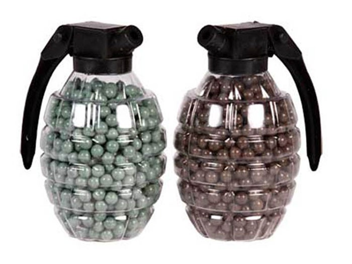 Marines Airsoft Hand Grenade Shaped BB Container,0.2g, 800 Rds Each, 2ct 6mm