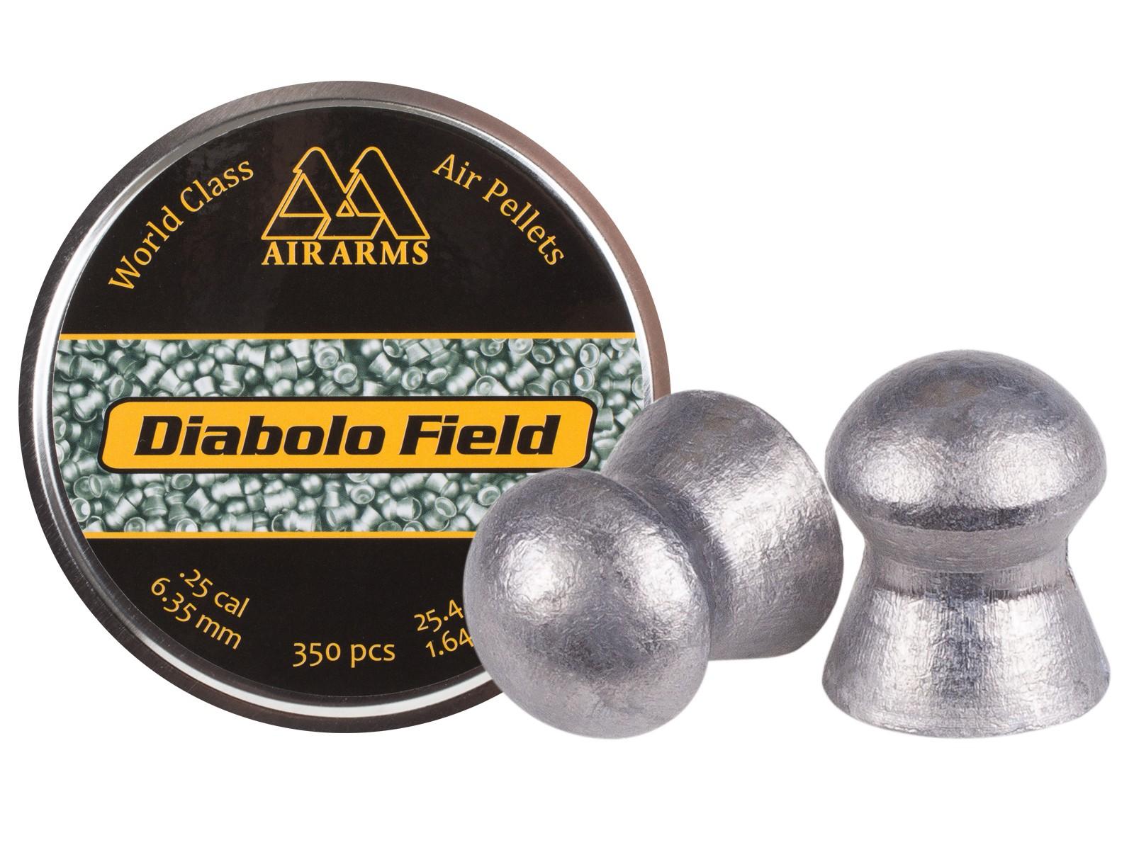 Air Arms Diabolo Field .25 Cal, 25.4 Grains, Domed, 350ct