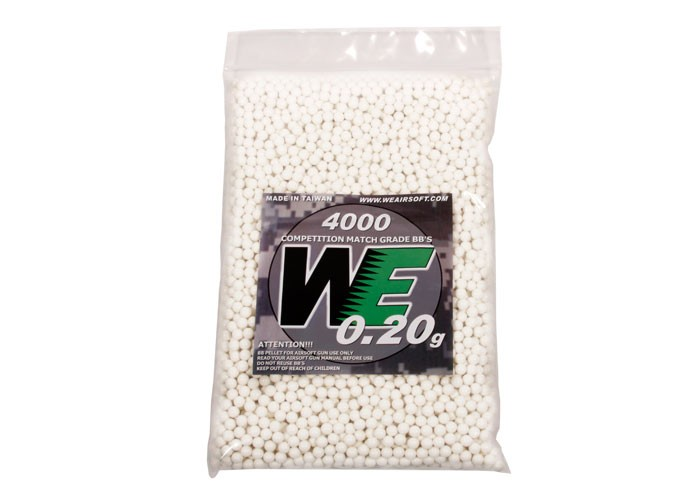 WE Competition Series Airsoft BBs, 0.20g, 4,000 Rds