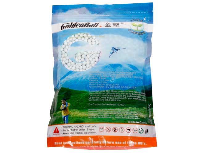 GoldenBall 0.23g Airsoft BBs, 3000 Rds, Light Blue