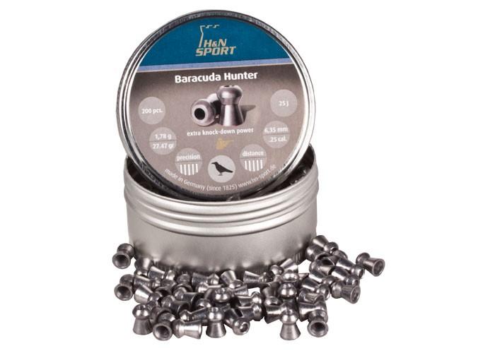 H&N Baracuda Hunter, .25 Cal, 27.47 Grains, Hollowpoint, 200ct