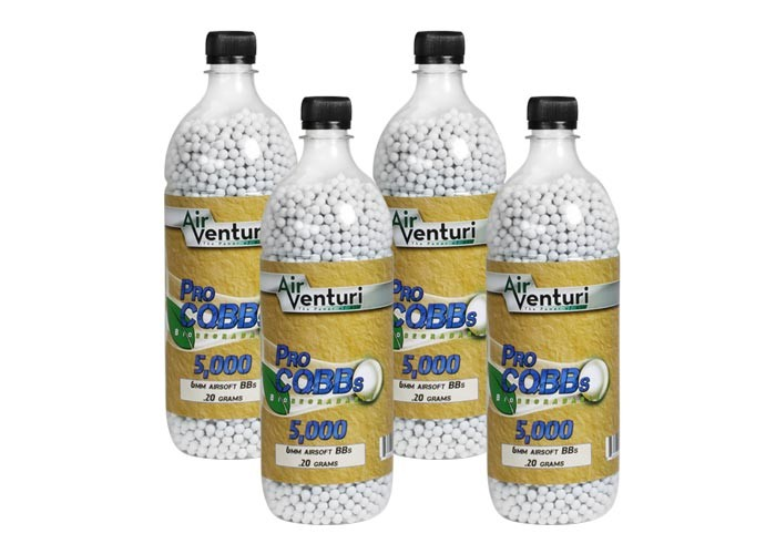 Air Venturi Pro CQBBs 6mm Biodegradable Airsoft BBs, 0.20g, 20,000 Rds, White