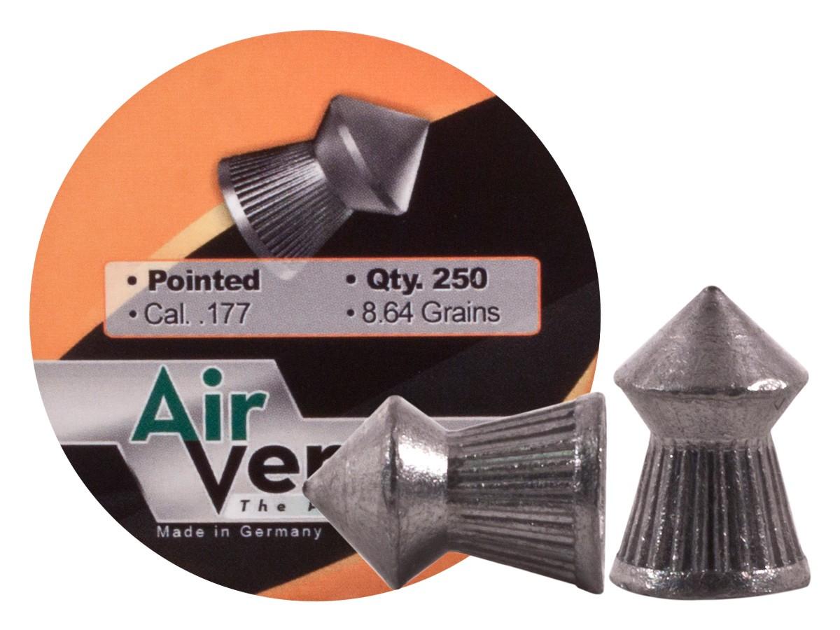 Air Venturi Pellets, .177 Cal, 8.64 Grains, Pointed, 250ct