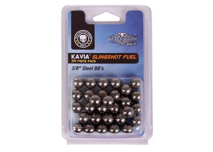 "Aftermath Kavia Slingshot Fuel, 3/8"" Steel BBs, 30ct"