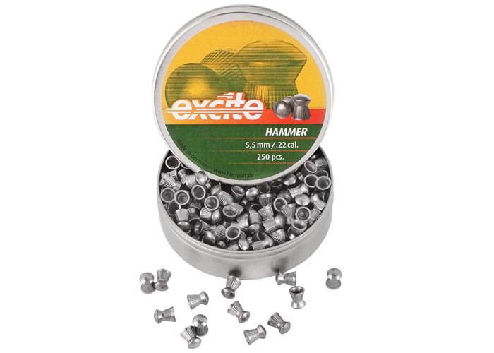 H&N Excite Hammer Pellets, .22 Cal, 14.66 Grains, Domed, 250ct