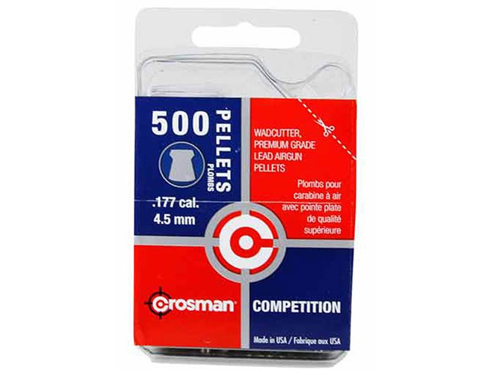 Crosman Competition .177 Cal, 7.4 Grains, Wadcutter, 500ct