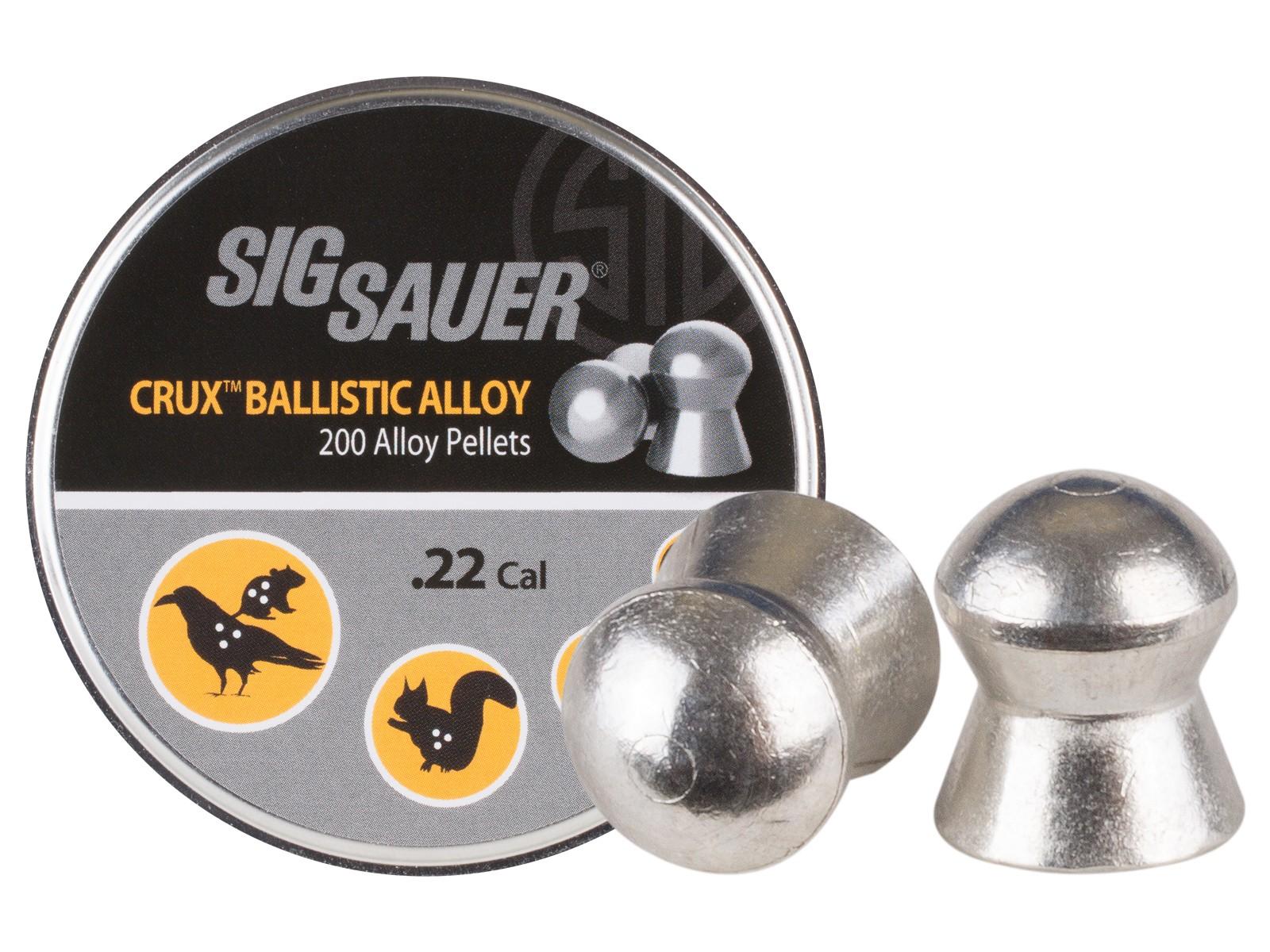 Sig Sauer Crux Ballistic Alloy Pellets, .22 Cal, 10.03 Grains, Domed, 200ct