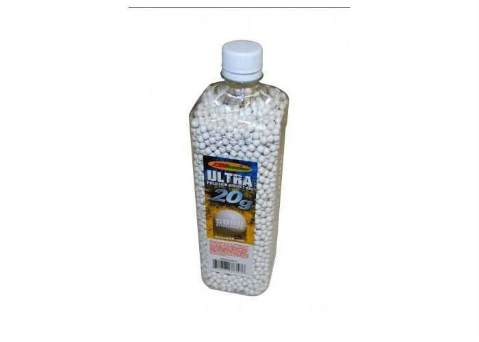 TSD Competition Grade 6mm plastic airsoft BBs, 0.20g, 5,000 rds, white, bottle