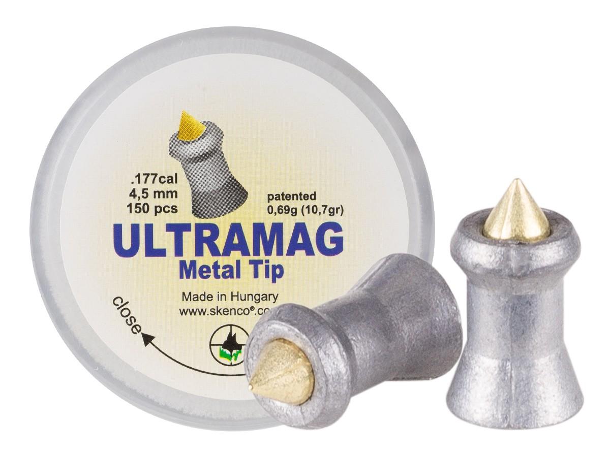 Skenco UltraMag Metal Tip, .177  Cal, 10.7 Grains, Pointed, 150ct
