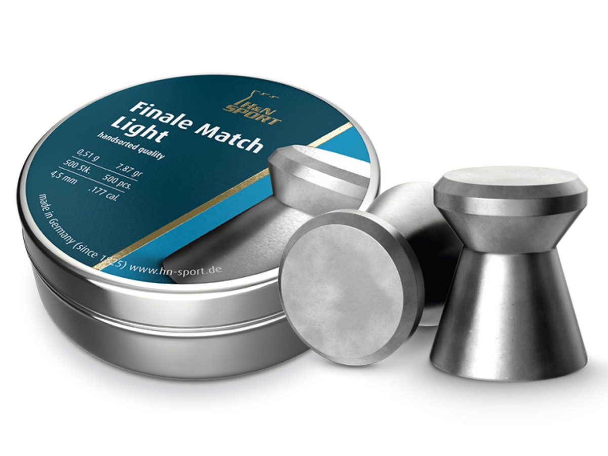 H&N Match Light .177 Cal, 7.87 Grains, 4.50mm, Wadcutter, 500ct